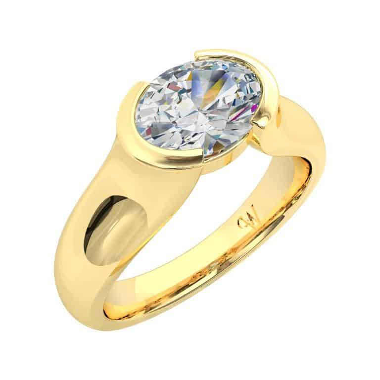 Oval Cut Diamond Solitaire Engagement Ring