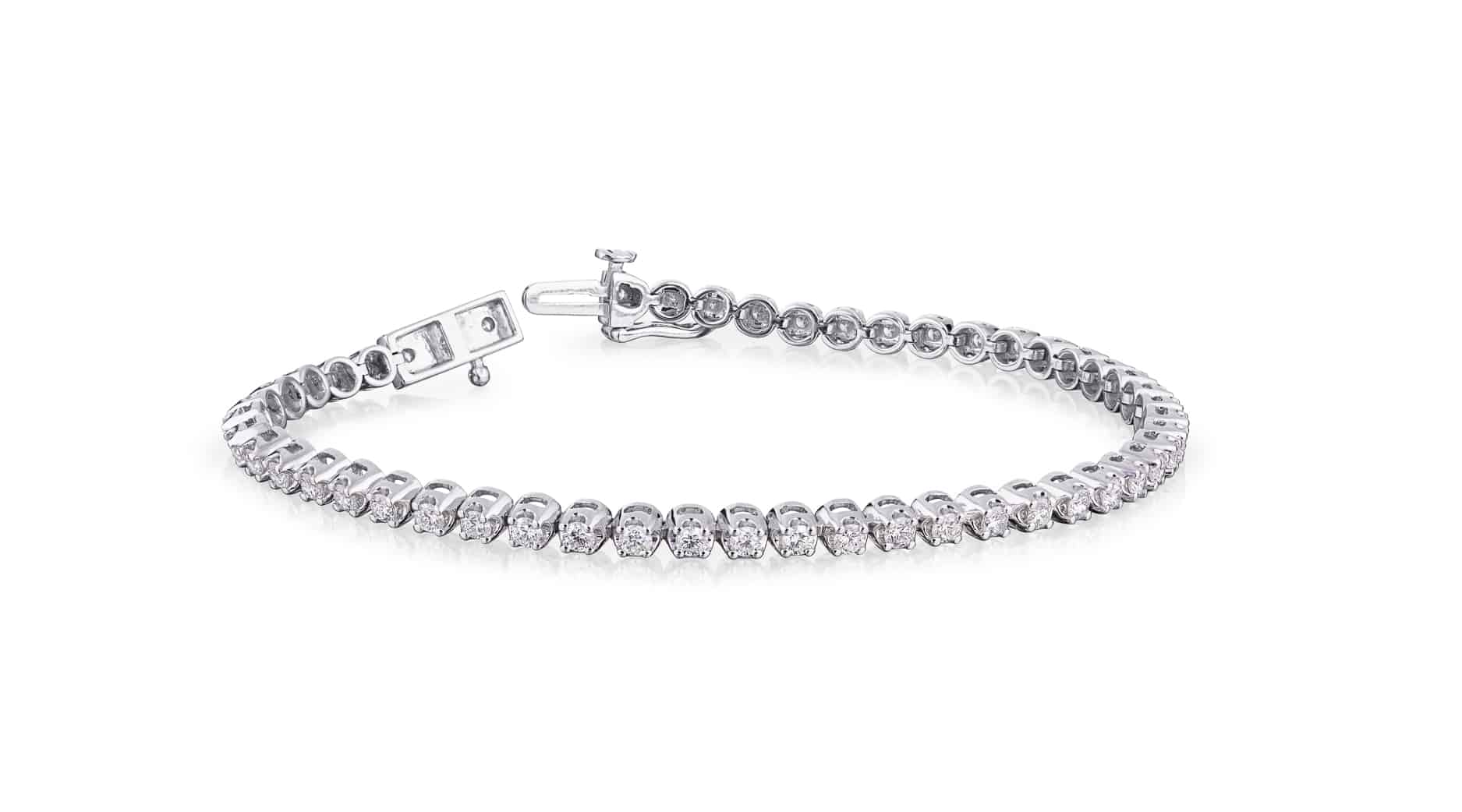 triple diamond tennis bracelet ctw bracelets row salvatore co