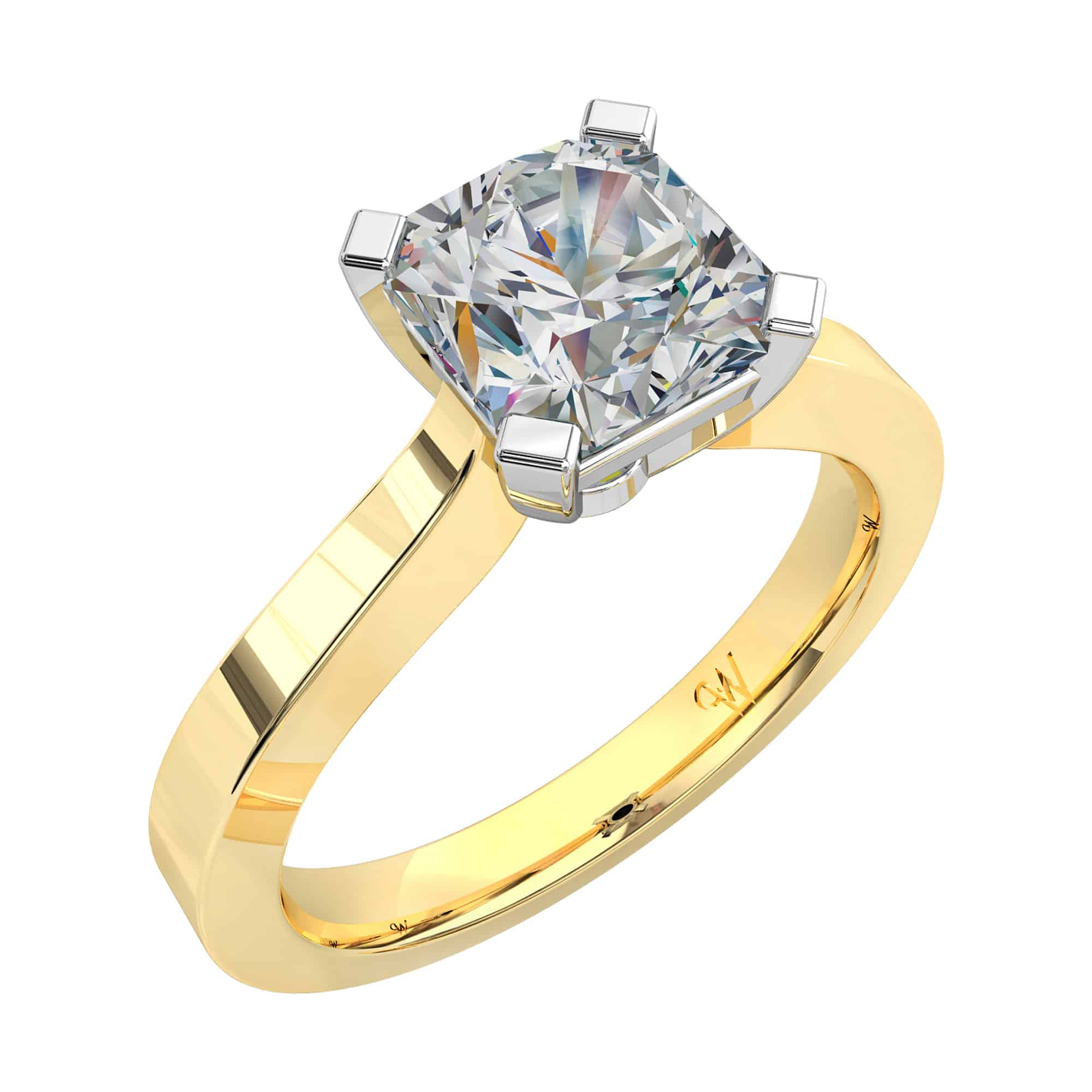 radiant fancy stone product menu asscher yellow diamond engagement jewellery ring rings cut three david