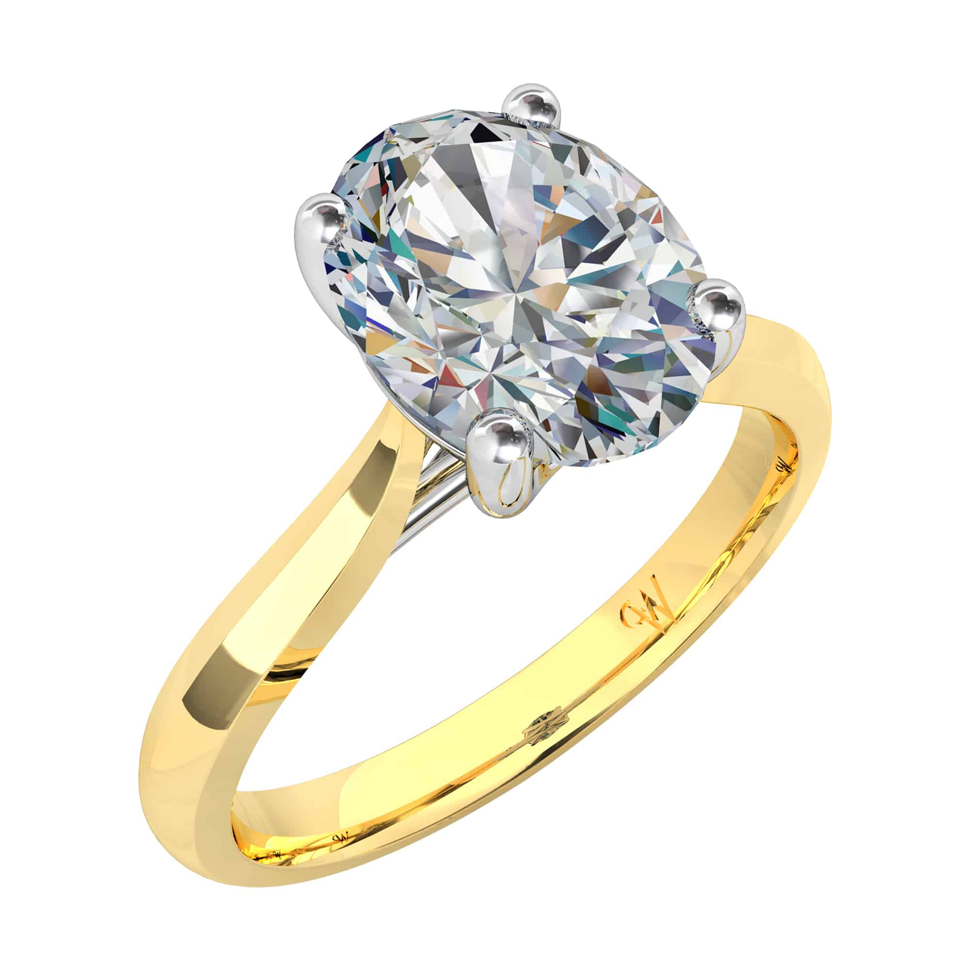 ko anita diamond products oval ring cut