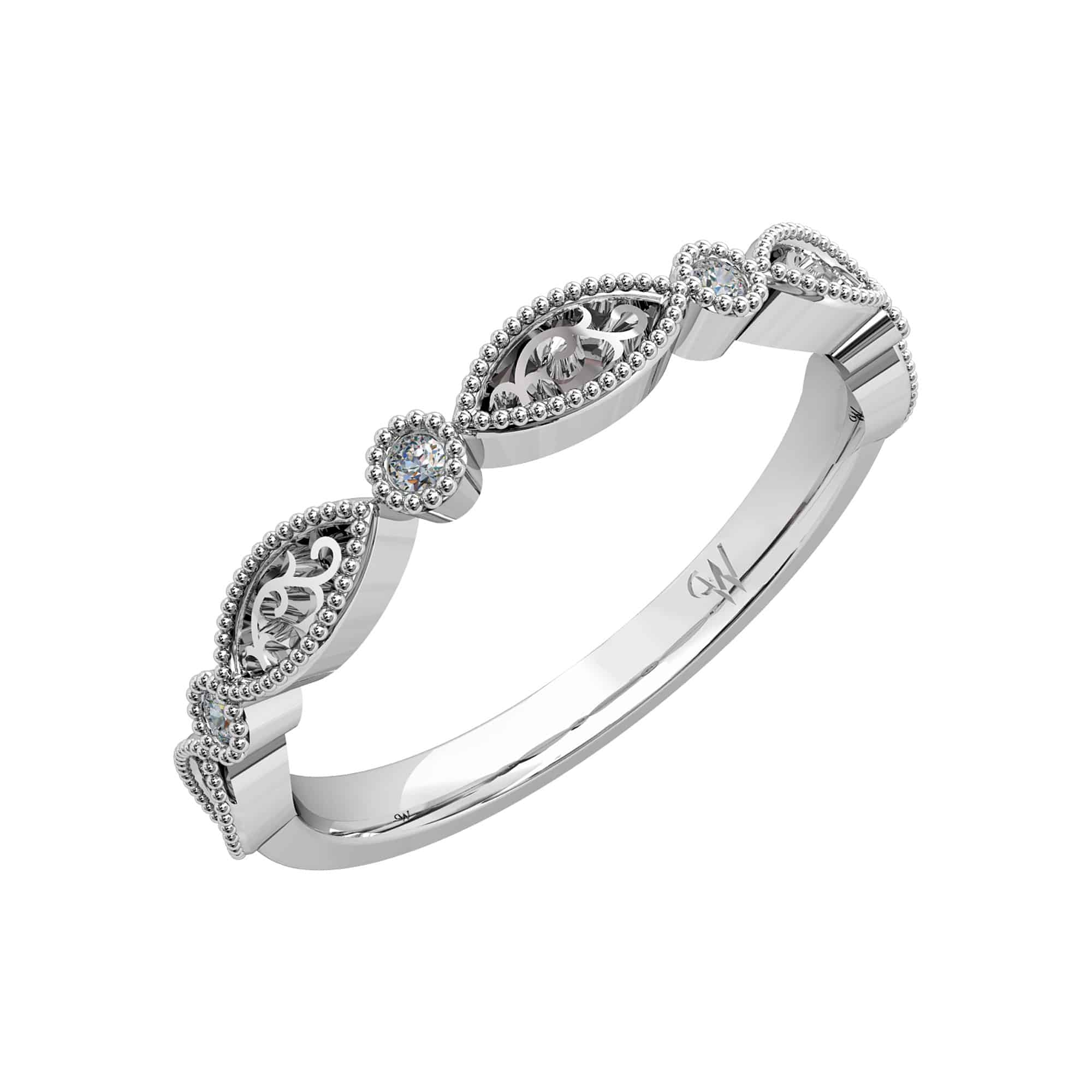 Brilliant Cut Vintage Wedding Ring Whitakers Jewellers